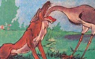 «Вовк і журавель» – аналіз і мораль байки Крилова