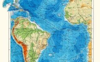 Рельєф дна Атлантичного океану