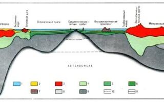 Земна кора і її види