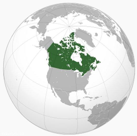 Географічне положення Канади