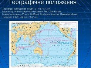 Географічне положення Тихого океану