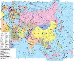 Населення і політична карта Євразії