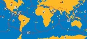 Плити літосфери і розломи Землі