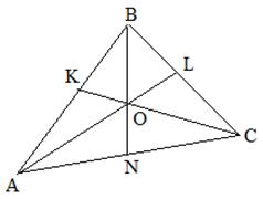 Трикутник, в якому проведено 3 бісектриси